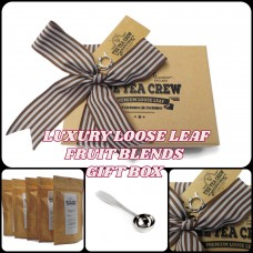 Fruit Tea Lovers Sampler Gift Box Ribbon Wrapped With Gift Tag