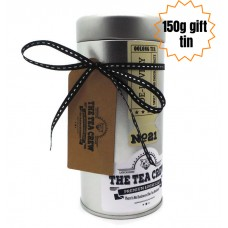 Tea Gift Tin Ribbon Wrapped With A Gift Tag And Message
